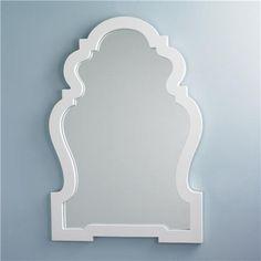 "White Lacquer Silhouette Mirror (37""Hx26""Wx1""D)  Product SKU: MW13015 WH Price:  $425.00"