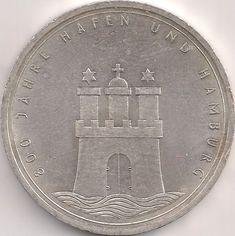 Motivseite: Münze-Europa-Mitteleuropa-Deutschland-Deutsche-Mark-10.00-1989-Hamburg