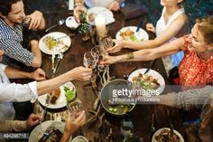 Stock Photo : Family Celebrating Garden Party