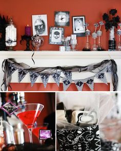 spooky ghost party vintage