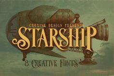 Starship Typeface by cruzine on @creativemarket