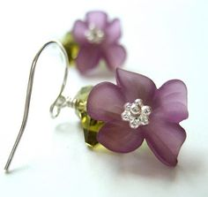 acrylic flower beads, cystals and spacers