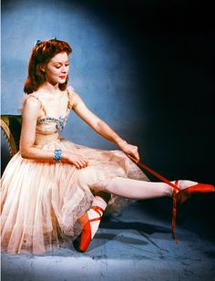 Moira Shearer in a promotional photo for The Red Shoes (1948)