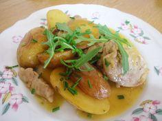 receta de solomillo a la miel con patatas