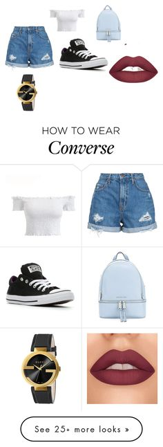 """""""fashion"""" by sarah-dci on Polyvore featuring Nobody Denim, Converse, MICHAEL Michael Kors, Gucci, fabulous, women, girlpower and fashionset"""