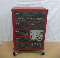 vintage industrial storage box, case, cabinet, mid century modern, urban, loft decor. tool box