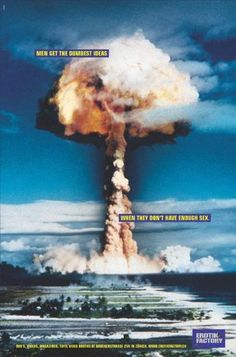 Great campaigns hijacking famous symbols and images Mushroom Cloud, Nuclear Bomb, Great Ads, Advertising Campaign, Dumb And Dumber, My Books, Symbols, Clouds, Paintings