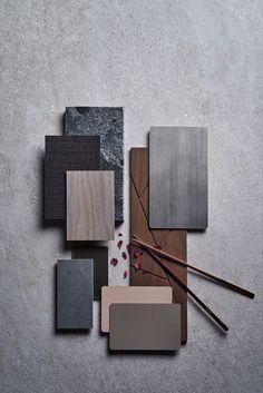 Mood Board Interior, Interior Design Boards, Colour Pallete, Colour Schemes, Kitchen Colour Combination, Material Board, Mood And Tone, Japanese Interior, Colour Board