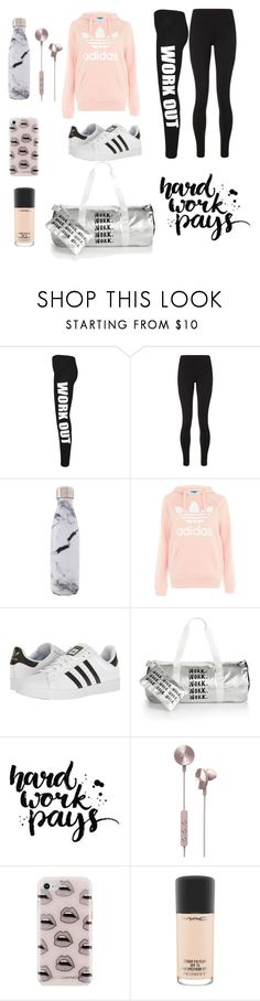 """""""WORK OUT"""" by fashionistaab ❤ liked on Polyvore featuring WearAll, Sweaty Betty, West Elm, adidas, Celebrate Shop, i.am+, Rebecca Minkoff and MAC Cosmetics"""