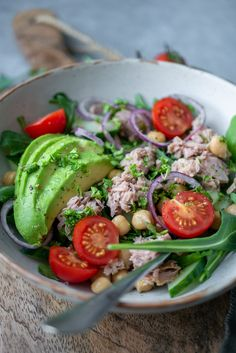 Healthy Salads, Healthy Eating, Healthy Recipes, Healthy Foods, Good Food, Yummy Food, Baked Beans, Lunches, Food Inspiration