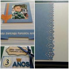 Albúm para 3 años personalizado!...Adiseña by Adriana Cano Ramos!!