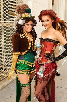 Steampunk Rogue and Phoenix - X-Men. Love, love, a million times love it!