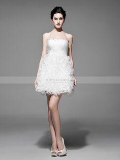 Yetunde - Без лямок органза узкое платье подвенечное платье с съемный шлейф