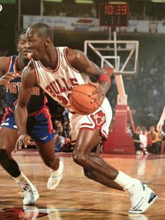 The GOAT blows by Joe Dumars in Chicago.