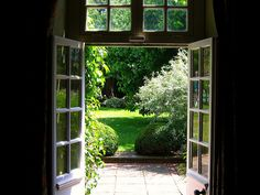 A view of Henry James' Garden at Lamb House, Rye, East Sussex