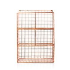 Buy the Copper Grid Five Shelf Wall Unit at Oliver Bonas. We deliver Furniture throughout the UK within 5-12 working days from £14.