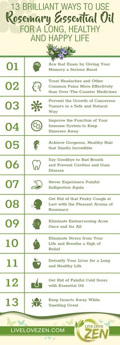 Rosemary Essential Oil Benefits Infographic