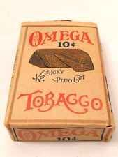 Vintage Factory Sealed Omega Tobacco Kentucky Cut Plug Package Cigars Pipes Ky