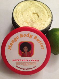 Mango Butter with Key Lime Infusion by HappyNappyHoney on Etsy, $2.00