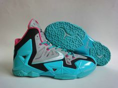 promo code ca22b fa3b4 Air yeezy Shoes · Nike Lebron XI South Beach Vivid Grey Pink Force Sport  Teal Lebron James Basketball, Lebron