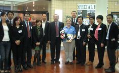 The China delegation stopped by the Georgia Visitor Information Center in Lavonia and even brought staff members stuffed pandas!