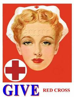 WWII Red Cross Nursing Recruitment Pin-Up Poster, ca. 1940s.