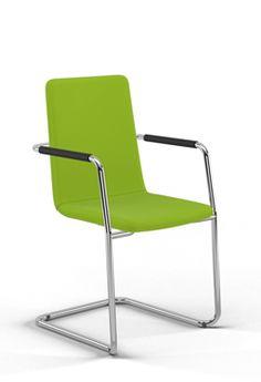 Grasgrüner Hüpfer: Der Grashüpfer von sitting smart. ist eigentlich ein Freischwinger und schafft 100.000 Scheuertouren