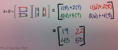 Multiplying Matrices - Color with a Purpose