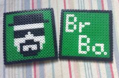 Breaking Bad coaster (set of 2) perler beads by StitchedDesign