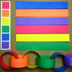 Rainbow Chain Fine Motor Activity For Preschool and Kindergarten