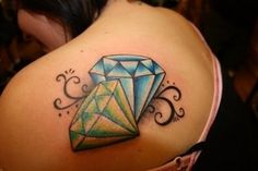 add this to my tattoo list, but a diamond for Sydney and a sapphire for TJ and a lot smaller.