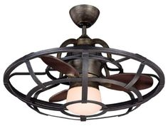 Create a bold, striking look in your home with the Savoy House French Country 26 Alsace Fan d'Lier Ceiling Fan. Inspired by the wine barrels of French vineyards, this commanding piece features riveted iron details and a rich reclaimed wood finish. Best Ceiling Fans, Ceiling Fan With Remote, Outdoor Ceiling Fans, Retro Ceiling Fans, Unique Ceiling Fans, Flush Mount Ceiling Fan, Caged Ceiling Fan, 3 Blade Ceiling Fan, Ceiling Fan In Kitchen
