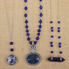 Bohemian boho layered beaded necklaces designed by Denise Yezbak Moore www.halcraft.com