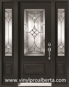 Cheap Entry Doors with Side Lights | Steel Entry Door with 2 Sidelights RENOIR [REN104-N&REN105-N/2S-VS-CC …