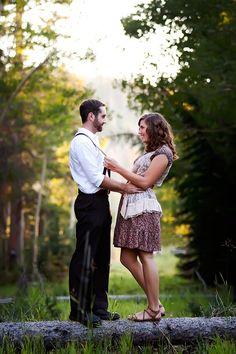 Woodsy engagement pics