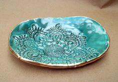 Ceramic Lace handmade pottery Bowl by dgordon on Etsy, $16.00