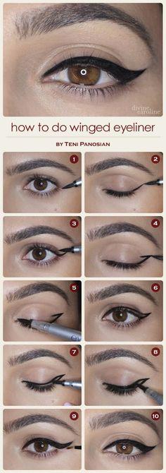 winged eyeliner | Only Fashion
