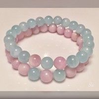 Rosary Bracelet, Crystals, Bracelets, Jewelry, Blue, Beaded Bracelets, Jewelry Findings, Trapper Keeper, Bangle Bracelets