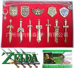 Легенда о zelda оружия Цинковый Сплав Ссылка небу меч и брелки и щит и ожерелье игрушки для коллекции