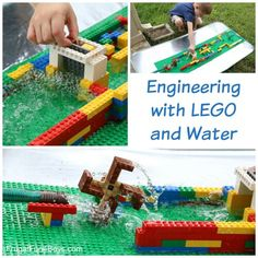 Creating a dam with Lego