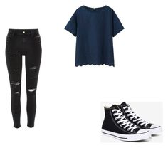"""Untitled #408"" by may5lin on Polyvore featuring Uniqlo, Converse and River Island"