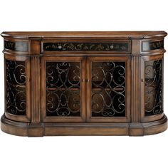 The Stein World Kendel Bookcase Credenza with Iron Work Doors enhances your home with functional, fashionable storage. This traditional-style bookcase. Muebles Living, Sofa End Tables, Console Tables, Buffet Tables, Iron Work, Sideboard Buffet, Buffet Cabinet, China Cabinet, Liquor Cabinet