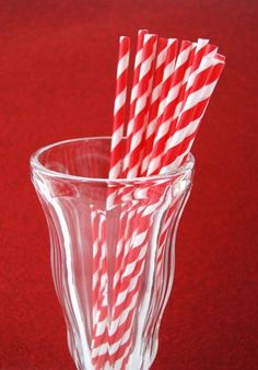 Color Rojo - Red!!! party straws