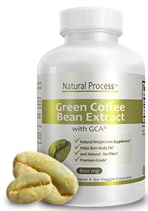 Pure Green Coffee Bean Extract Diet 800 mg with 50% GCA- No Fillers :: Natural Process #weightloss #supplements #greencoffeediet