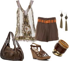 """Summer brown"" by tracey-puckett on Polyvore"