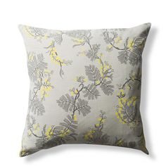 100% Linen Cushion Cover, Black Wattle - Grey, 50x50cm