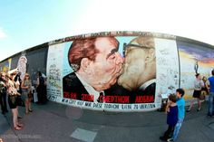 The Berlin Kiss:The Socialist Fraternal Kiss between Leonid Brezhnev and Erich Honecker, 1979