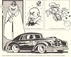 "Krapulax's car from the French Comic book ""Pif et Hercule"""