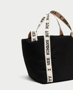Discover the new ZARA collection online. Clap Clap, Trendy Handbags, Striped Canvas, Waxed Canvas, Zara Women, Other Accessories, Bag Making, Everyday Fashion, Purses And Bags