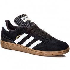 Adidas Busenitz Shoes - Black/White/Gold - 7.0
